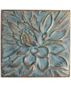 Metallic lotus relief finished with rich green and blue patina hues. Suitable for indoors or outdoors. Glue Art, Buddha Wall Art, Symbolic Art, Lotus Mandala, Art Abstrait, Flower Art, Decoupage, Abstract Art, Canvas Art