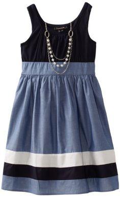 Amazon.com: My Michelle Girls 7-16 Striped Dress: Clothing