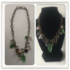 Glass Bead Bib Style Necklace