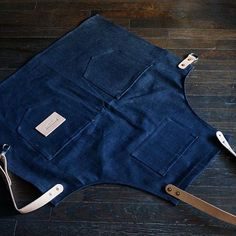 The finished product.  Made from a 13oz selvedge denim from Cone Mills, out of Greensboro, North Carolina. Features include hand set copper rivets, natural vegetable tanned leather, and solid brass hardware.