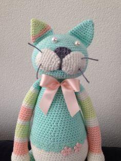 Stuffed crochet cat/ crochet animal/  amigurumi by DutchNeedle