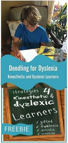 Doodling for Dyslexia -Kinesthetic and Dyslexic Learners (FREE Printable Pack) - I don't like the quotes, but it's a good model for finding or creating similar projects. Dyslexia Activities, Dyslexia Strategies, Dyslexia Teaching, Learning Disabilities, Reading Strategies, Teaching Reading, Wilson Reading Program, Pediatric Occupational Therapy, Dyscalculia