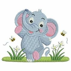 Baby Elephant Set, 13 Designs - 4x4   What's New   Machine Embroidery Designs   SWAKembroidery.com