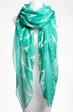 David  Young Zigzag Sheer Scarf | Nordstrom