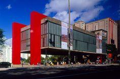 MASP — The Museu de Arte de São Paulo stands out on Avenida Paulista with it's bold, modern architecture. By Lina Bo Bardi in 1946.