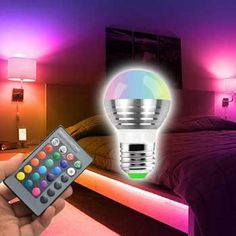 Magic Lighting RGB Color Changing Light Bulb - Bright Colors, Fun Gadget to Own! Strip Lighting, Cool Lighting, Cores Rgb, Color Changing Light Bulb, Lower Lights, Fill Light, Luz Led, Led String Lights, My New Room