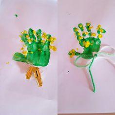 Idea per la festa della mamma, mano mimolosa