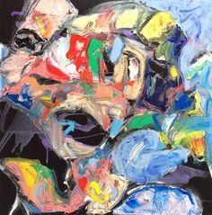 Artist Bregje Horsten - Midnight Dance  100x100cm, Oil on canvas, 2014 -   www.bregjehorsten.com Twitter: www.twitter.com/BregjeHorsten Facebook: www.facebook.com/bregjehorstenart?ref=hl LinkedIn: www.linkedin.com/profile/view?id=78977502&trk=nav_responsive_tab_profile  #Artist #art #fineart #abstract #contemporary #expressive #oil #canvas #painting #paint #colour #colourful #Netherlands