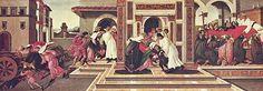 El Último milagro y muerte de San Cenobio (en italiano, Ultimo miracolo e morte di San Zanobi) es una obra que mide 66 cm. de alto y 182 cm. de ancho. Se conserva en la Gemäldegalerie Alte Meister de Dresde.  Se trata de un cuadro que se lee de izquierda a derecha:  A la izquierda, un niño atropellado por un carro mientras está jugando; Su madre, una viuda, se lamenta mientras lleva al niño muerto a los diáconos Eugenio y Crescencio interceden al santo con sus oraciones, implorando el…