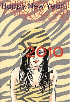 It is a New Year's card of 2010.It is year of the tiger.  #年賀