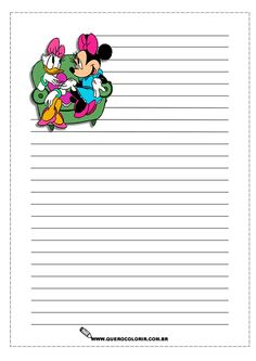 Stationary Printable Paper Templates Free Printables Page Borders Note Lilo And Stitch Planner Pages Disney Scrapbook