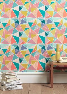 Tress in Multi-Colour Wallpaper