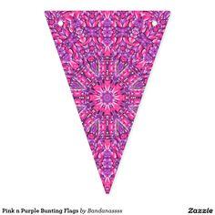 Pink n Purple Bunting Flags