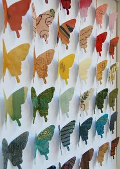Decorate your walls with paper art! Look at these 5 inspiring DIY ideas from origami and paper cups to lanterns and fans. You will love the inspirational ideas. Butterfly Canvas, Origami Butterfly, Fabric Butterfly, Butterfly Mobile, Crafts For Kids, Arts And Crafts, Paper Crafts, Diy Crafts, Paper Wall Art
