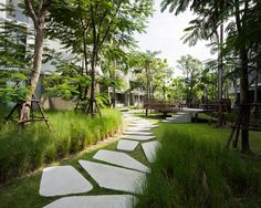 sanitas studio emulates ocean journey through baan san kraam in thailand is part of architecture - referencing the movement of ocean waves, thai firm sanitas studio has completed the master plan and landscape design for a residential project in thailand Landscape Elements, Contemporary Landscape, Urban Landscape, Landscape Architecture, Landscape Design, Garden Design, Modern Landscaping, Garden Landscaping, Landscaping Company