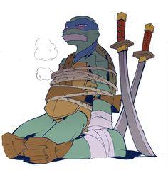 he he he (my minds dirty) Cartoon As Anime, Anime Fnaf, Tmnt 2012, Ninja Turtles Art, Teenage Mutant Ninja Turtles, Tortugas Ninja Leonardo, Tmnt Human, Tmnt Leo, Tmnt Girls