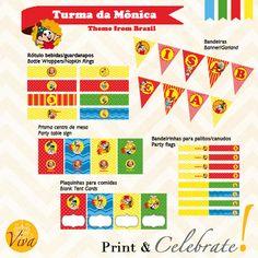 Turma da Monica Birthday Theme  Custom by VivaPrintCelebrate