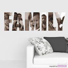 WANDTATTOO Family   Bilder mal anders   mit eigenen Fotos   Wandaufkleber