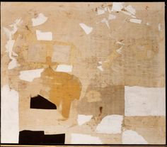 "Alberto Burri, Bianco (White), 1962. Collection of the San Francisco Museum of Modern Art. From Skira Rizzolis' ""Destroy the Picture: Painting the Void, 1949-1962."""