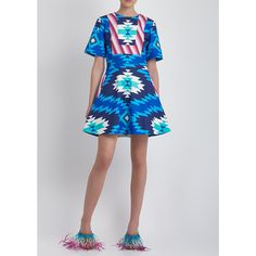 House Of Holland  Blue Fit And Flare Dress