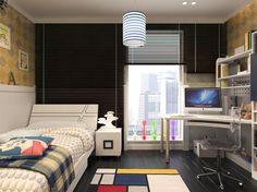 Kinderzimmer Modern | Kinderzimmer Schulkind 3d Visualisierung Regale Hochglanz Weiss