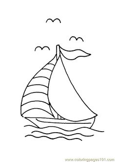 Boat Coloring Page Transportation Pages For Kids Thousands Of Free Printable