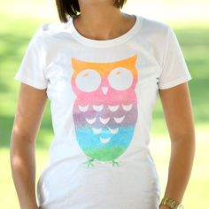 iLovetoCreate® Wise Owl Ombre T-Shirt  #diy #fashion
