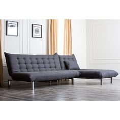 Abbyson Living Bedford Gray Linen Convertible Sleeper Sectional Sofa | Overstock™ Shopping - Big Discounts on Abbyson Living Sectional Sofas