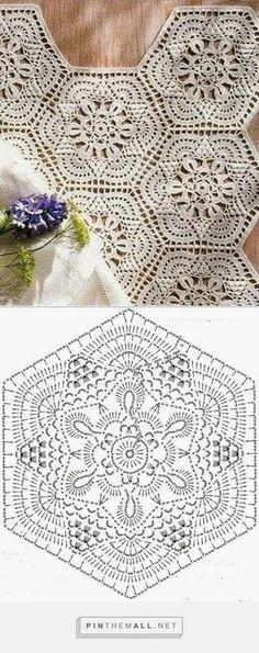 Crochet Motif - Free Crochet Diagram - … Mais