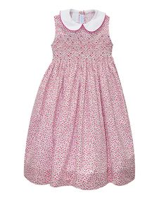 Look at this Vive La Fête Red & White Geometric Dress - Infant, Toddler & Girls on #zulily today!