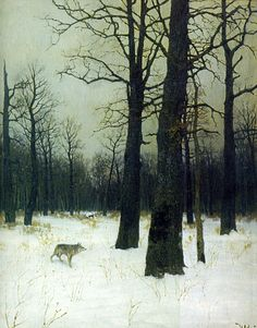 Forest in Winter, by Russian painter Isaak Levitan. I want to wander here. . .