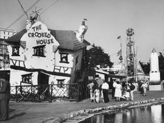 Box Canvas Print (other products available) - The Crooked House, one of the attractions of the funfair in the Peter Pan Gardens at Southend-on-Sea, Essex, England. - Image supplied by Mary Evans Prints Online - inch Box Canvas Print made in the UK Crooked House, Essex England, Leigh On Sea, Yosemite National Park, Old Photos, Wonderful Images, Poster Prints, Art Posters, Canvas Prints