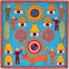 Image result for huichol yarn painting Yarn Painting, Bright, Image, Design, Art, Kunst, Design Comics, Art Education
