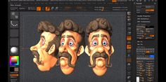 sculpting and polypainting in zBrush 4