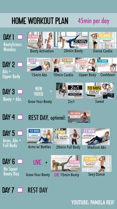 51 pamela reif  youtube in 2020  at home workout plan