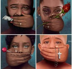This isn't just a awesome artwork but a deep touching message. Money, Love, Threat & Religion have prevented alot of people from saying what they ought to be s Black Women Art, Black Art, Satirical Illustrations, Dope Art, Black History, Female Art, Art Drawings, Street Art, Illustration Art