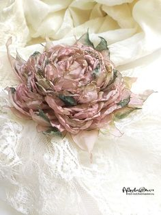 Brooch fabric flower rose – shop online on Livemaster with shipping