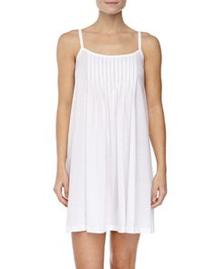 Juliet Pleated Babydoll Gown, White by Hanro at Neiman Marcus.