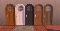 Arlette Door by AdonisPluto at Mod The Sims - The Sims 4 Catalog Maxis, Sims Four, Sims 4 Mm, Sims 4 Mods Clothes, Sims 4 Clothing, Sims 4 City Living, Muebles Sims 4 Cc, Sims 4 Game Mods, Casas The Sims 4