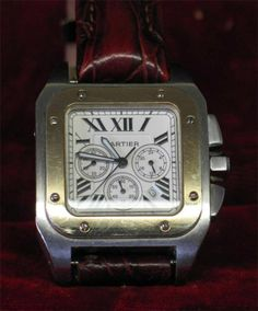 Cartier Santos 100 Beautiful Men's Wristwatch