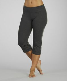Look what I found on #zulily! Heather Charcoal Capri Yoga Pants #zulilyfinds