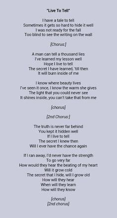 Madonna _ Live To Tell lyrics