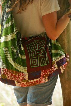 Godzilla Bag Urban Bohemian Tribal hippie by NIDOUrbanoTribal