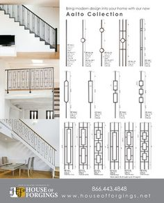 Increase the value of your home with a stair remodel using our unique styles and finishes available in our wrought iron balusters. Staircase Railing Design, Interior Stair Railing, Metal Stair Railing, Wrought Iron Staircase, Staircase Handrail, Balcony Railing Design, Staircase Makeover, Staircases, Railing Ideas