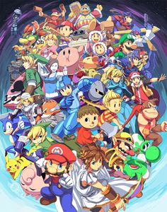 SSB Newcomers by ~kamifish on deviantART