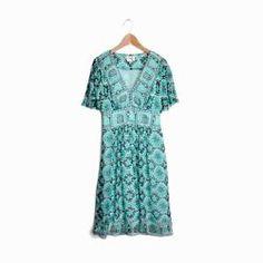 MILLY of New York Aqua Green Floral Silk Dress - Sample - EUC - 2/4/Small