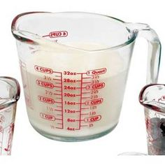 This Anchor Hocking measuring cup is a must-have for any busy kitchen. Made from durable, heavy-duty glass, this 32-ounce measuring cup features an integrated handle for smooth, easy pouring. Easy-to-read markings let you measure ingredients by the quart, cup, half cup, third cup or ounce.