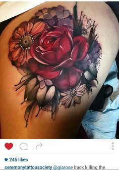 Flower tattoos by Gia Rose
