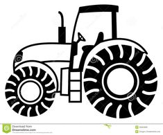 Tractor Outline Stock Photos Images  Pictures  460 Images