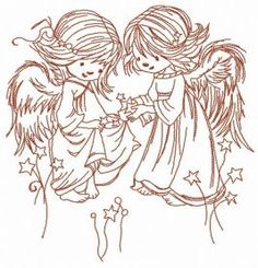 Stars for angels 2 machine embroidery design. Machine embroidery design. www.embroideres.com